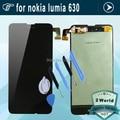 Para nokia lumia 630 635 display lcd completa + painel de vidro da tela de toque peças de reposição assembléia + ferramentas