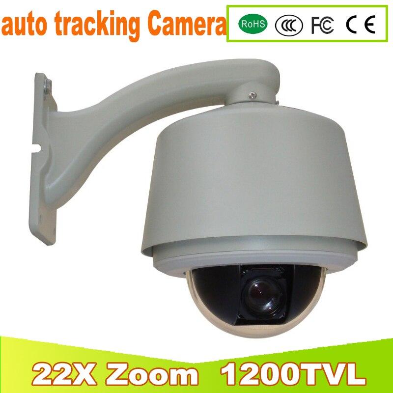 YUNSYE Auto-tracking PTZ câmera speed dome DA CÂMERA 1/3 sony CCD 1200tvl 22X Auto-tracking câmera de Alta velocidade bola
