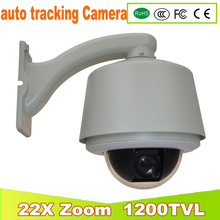 YUNSYE 2017 NEW Auto -tracking Speed Dome 1/3 sony CCD 1200tvl 22X speed dome camera PTZ High ball