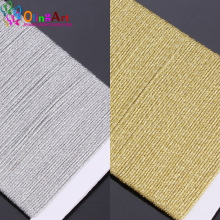 OlingArt 10M 0.8mm Gold Silver Thread Color Line Chinese Knot String Knit Cord Ropes Wire DIY Jewelry Making Bracelet Nylon