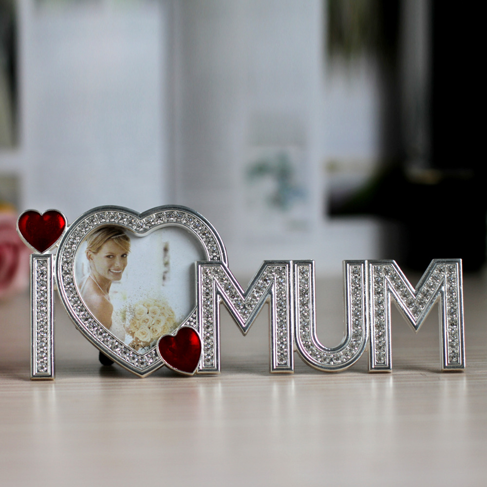 Mother S Day Gift Love Mum Shape Picture Frame Metal Photo