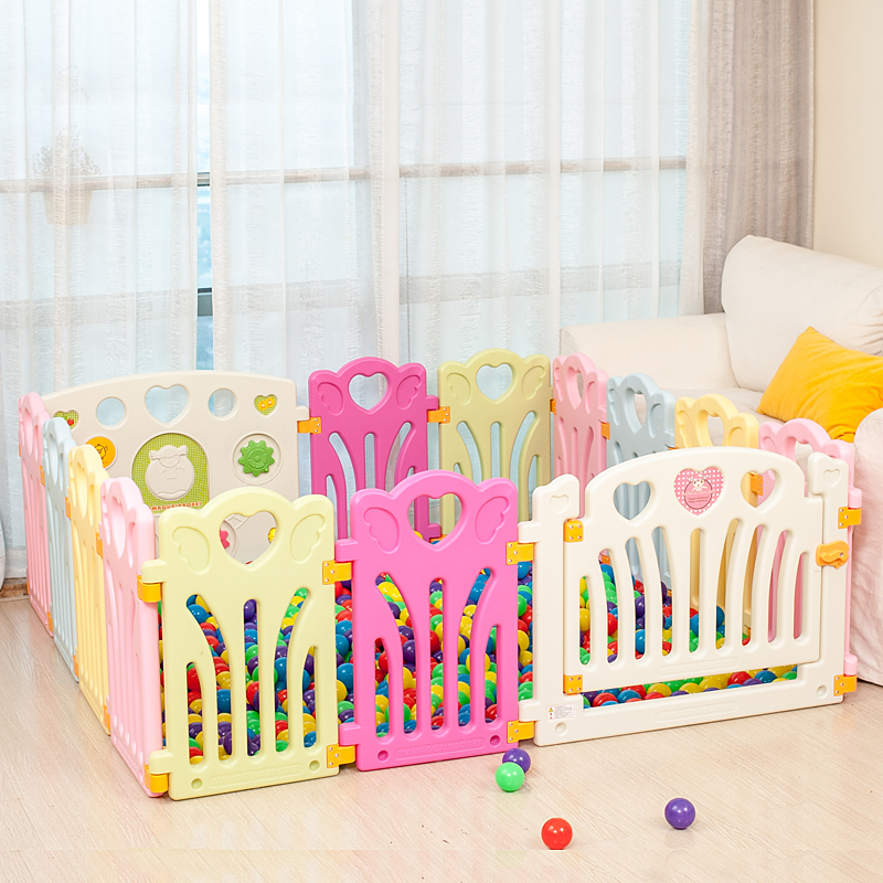 2018 Cercadinho Fencing For Children 12+2 Child Game Fence Wei Dang Baby Crawling Toys Guardrail Toddler Safety Ocean Ball Pool