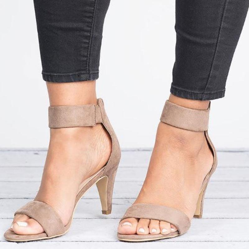 Women Sandals 2019 Fashion Summer Shoes Women Peep Toe Thin Heels Sandals Plus Size 43 Casual Innrech Market.com