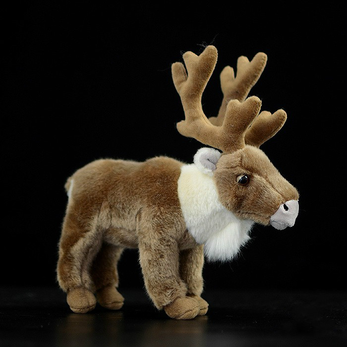 Brown christmas reindeer Peary Caribou plush toy stuffed Simulation Wildlife toys for children gift for christmasBrown christmas reindeer Peary Caribou plush toy stuffed Simulation Wildlife toys for children gift for christmas