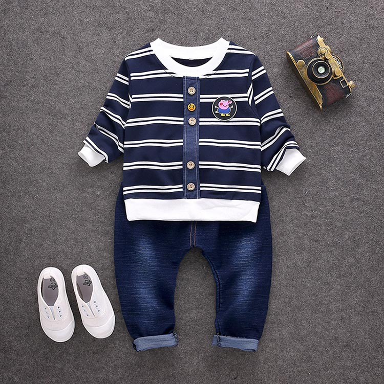 Baby Boy Clothes Summer 2017 Newborn Baby Boys Clothes Set Cotton Baby Clothing Suit (Shirt+Pants) Infant Clothes Set 8035 цены