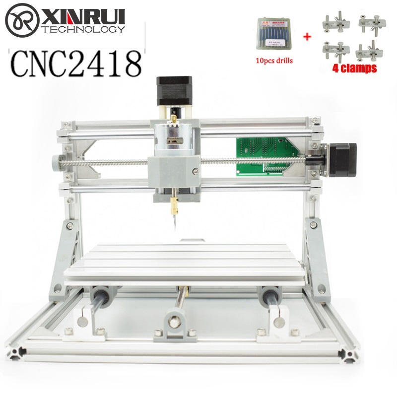 CNC 2418 GRBL DIY CNC machine,work area 24x18x4.5cm,3 Axis Pcb Milling cnc Machine Wood router Carving Pvc Mill Engraver cnc 2418 with er11 cnc engraving machine pcb milling machine wood carving machine mini cnc router cnc2418 best advanced toys