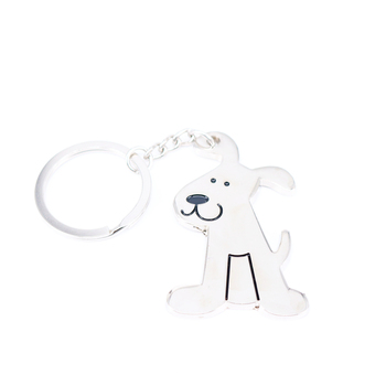 1pc diy creative novelty women and men animal cute dog fashion metal key ring keychain fancy key finder promotion gift