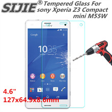 Tempered Glass For sony Xperia Z3 Compact mini M55W 4.6 inch Screen protective cover smartphone toughened case 9H on crystals цены
