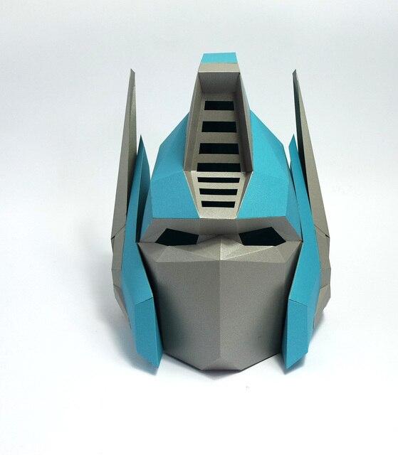 Masque en papier Optimus en 3d,