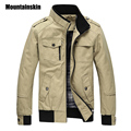 Mountainskin Casual Men's Jacket Spring Army Military Jacket Men Coats Winter Male Outerwear Autumn Overcoat Khaki 3XL EDA085