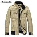 Mountainskin Casual Men's Jacket Spring Army Military Jacket Men Coats Winter Male Outerwear Autumn Overcoat Khaki 3XL EDA085