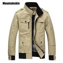 Mountainskin Повседневное Для мужчин куртка весна военный куртка Для мужчин пальто Зимняя мужская верхняя одежда осень пальто хаки 5XL EDA085