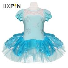 IIXPIN Kinder Mädchen Elsa Prinzessin Ballett Tutu Kleid Schneeflocke Tutu Dancewear Party Kleid Für Mädchen trikots ballerina Elsa Kleid