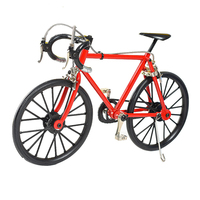 RED Color Building Toys 3D alloy bicycle model Kit ( DIYB 2R)