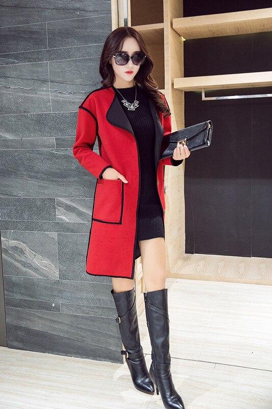 Laine grey Red Belle Femininos Dame Hiver De Marque Survêtement Casacos Pardessus Lc1115 Veste Long Femmes Manteau Automne Femelle Nouvelle 05UZTwq