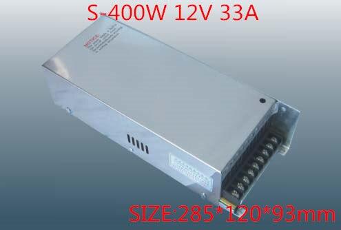 bdabf12c0 400 W 12 V 33A única saída de comutação da fonte de alimentação para fita  LED AC-DC S-400-12