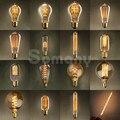 Atacado 110 V 220 V E14 E27 Tungstênio Retro Edison Lâmpada 40 W 60 W Esquilo Gaiola De Carbono Decorativo Do Vintage Filament Edison Bulb
