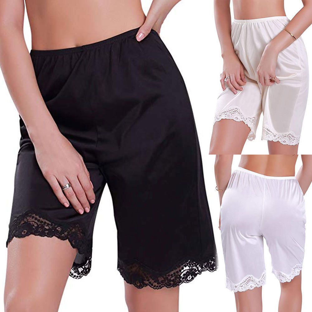 2018 New Anti-Static Slip Pettipants Half Slip Petti Pants Knickers Breathable Soft Summer Sleep Bottoms Plus Size M-XXXL satin bloomer