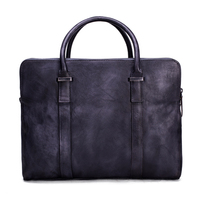 ROCKCOW Vintage Vegetable Tanned Leather Briefcase Men Messenger Bag Laptop Bag 9043