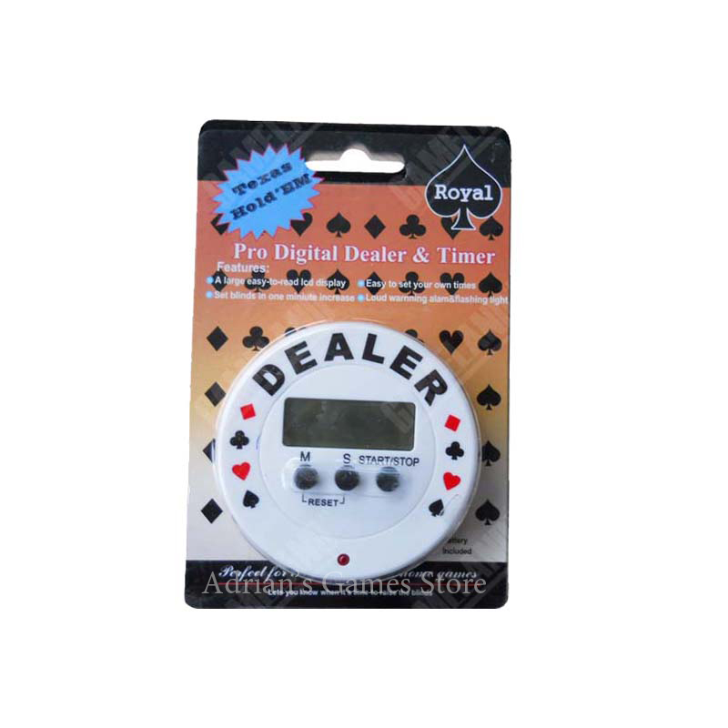 Electric Poker Dealer & Timer Poker Chips Dealer Botton Pokerstars Texas Holdem Poker Accessory Card guard