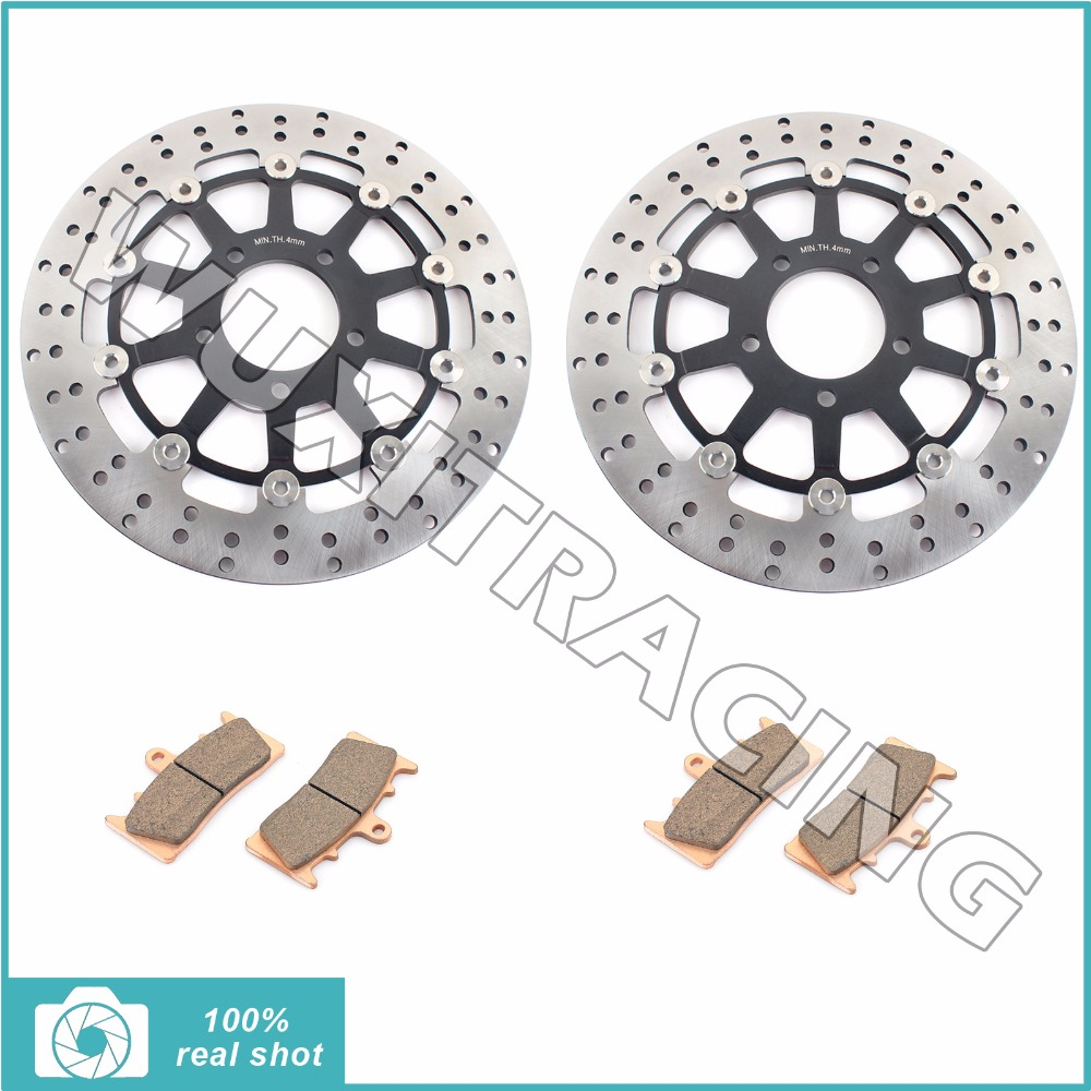 Front Brake Discs Rotors + Pads for SUZUKI GSXR 750 1000 1300 GSXR750 GSXR1000 GSX 1300 R 96-07 97 98 99 00 01 02 03 04 05 06 korean edition new middle school students college style double shoulder bag leisure pack men and women s travel backpack