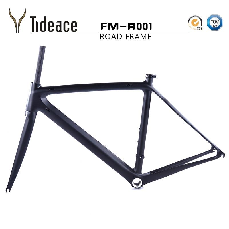 970g super light carbon road bike frame Di2 chinese carbon fiber road bicycle frame BSA carbon road frame with internal cables  недорого
