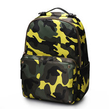 Japan Style Camouflage Printing Backpack Women Fashion Waterproof Nylon And PU Small Bag Men Designer Casual Travel Bag Rucksack(China)
