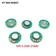 5 pcs/lot nouveau Ultra mince Mini haut parleur 16 ohms 0.25 watt 0.25 W 16R haut parleur diamètre 27 MM 2.7 CM épaisseur 7 MM