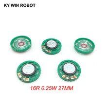 5 pz/lotto Nuovo Ultra sottile Mini altoparlante 16 ohm 0.25 watt 0.25 w 16R altoparlante Diametro 27mm 2.7 cm di spessore 7mm