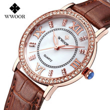 Popular Women Watches Brand Luxury Leather reloj mujer Rose Gold Clock Ladies Casual Quartz Watch Women Dress Watch montre femme