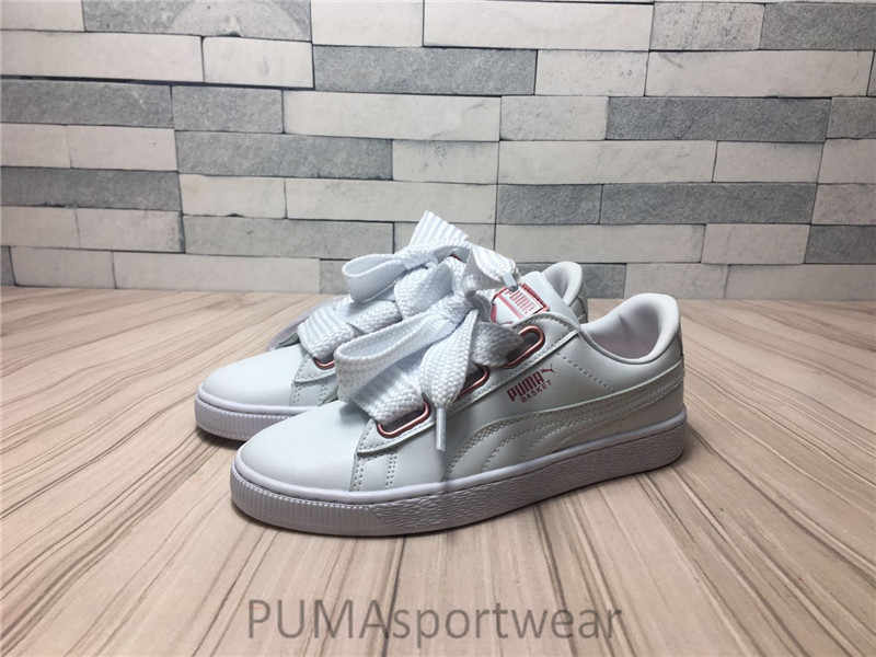 Original PUMA Basket Suede Heart Women s Sneakers Bow Badminton Shoes ... 27fbcae73