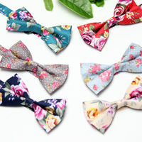 10 Colors High Quality Floral Bowties Wedding Banquet 2016 New Fashion Designer Women Men S Butterfly