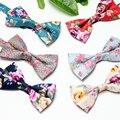 Mens Florales Pajaritas Banquete de Boda 2016 Mujeres Nuevo Diseñador de Moda de Alta Calidad Para Hombre de la Flor Corbata Mariposa para Padrino de boda
