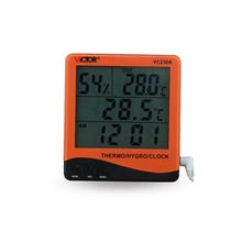 Cheaper VC230A big screen temperature and humidity thermo hygrometer with clock