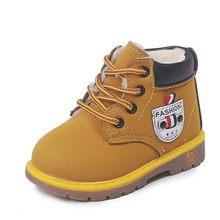 Children's shoes snow boots for girls casual kids plush boots baby martin boots autumn winter boys cotton sneakers for 1-6Years(China)