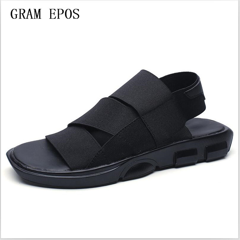 GRAM EPOS 2017 New Men Elastic Band Super Comfort SANDALS Indoor Men Slippers Open toed Leather