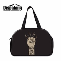 Dispalang cool trendy portable teenager overnight weekend bag canvas totes sporty bag for men boys letter hand luggage bag