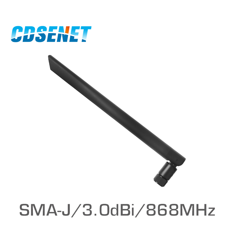 2 Pcs/Lot Omni 868 MHz haute Gain antenne uhf CDSENET TX868-JK-20 SMA mâle 868 MHz Omnidirection Wifi antennes pour la Communication