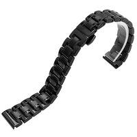 Qualité Solide En Acier Inoxydable Bande de Montre 14mm Pour Pebble Temps Ronde Dames De Luxe Bracelet En Acier