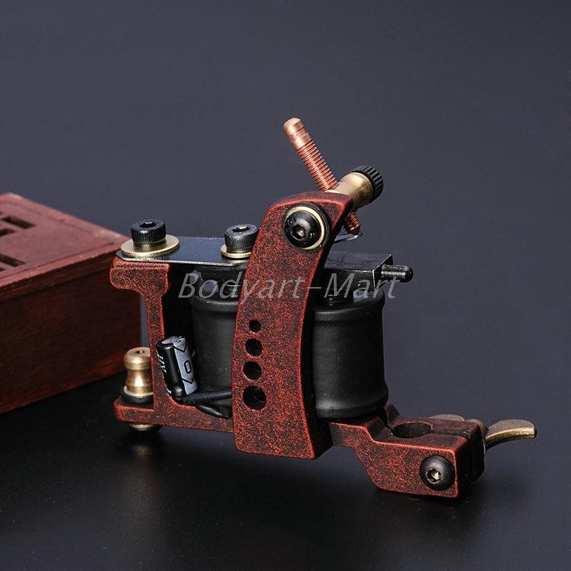 One 10 Wrap Coils Alloy Tattoo Apprentice Machine Gun For Kit Power Set Supply GAM09-B