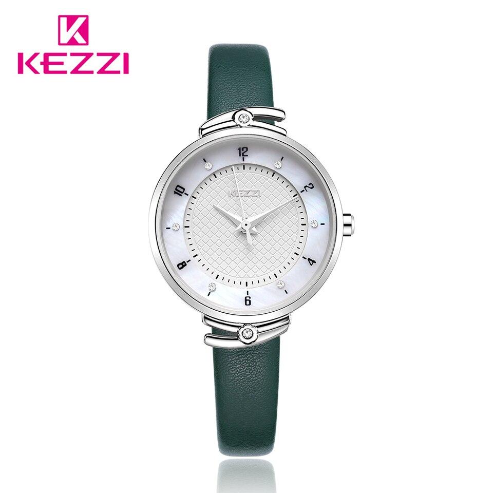Kezzi Luxury Women Watch Ladies Casual Leather Watch Wristwatch Waterproof Quartz Watch Reloj Mujer Montre Femme