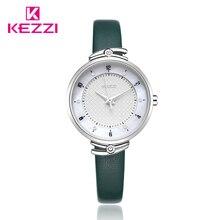 цена на Kezzi Luxury Women Watch Ladies Casual Leather Watch Wristwatch Waterproof Quartz Watch Reloj Mujer Montre Femme
