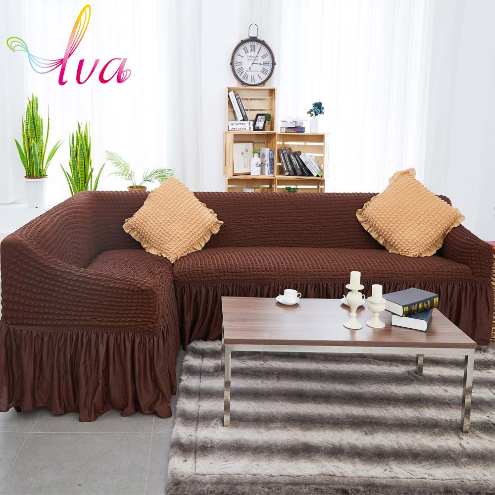 LVA Elastic Corner Sofa Cover Thick Warm Durable Sectional