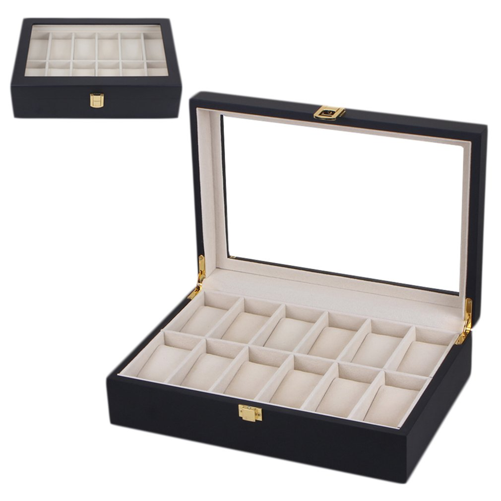 Top Grade 12 Grids PU leather Watch display holder Bracelet Jewelry display Casket watches Bracelet Display Organizer CaseTop Grade 12 Grids PU leather Watch display holder Bracelet Jewelry display Casket watches Bracelet Display Organizer Case