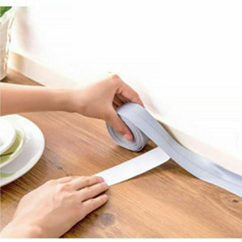 1pcs Adhesive Tape Mildew Resistant Waterproof Caulk Strip For Kitchen Sink Sealing Sealant Strip PVC Wall sticker Bathroom 40