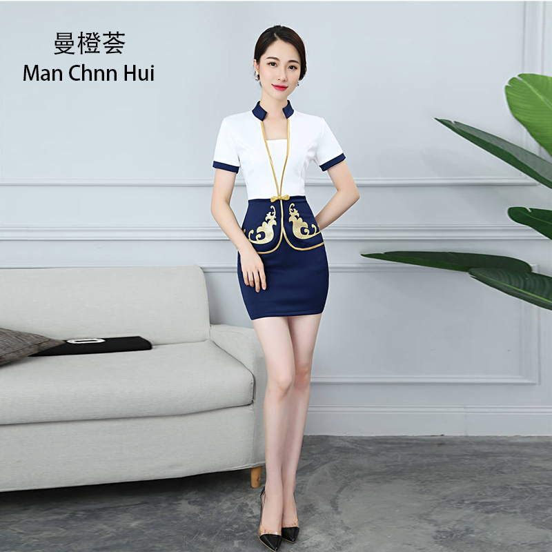 Medical Nurse Uniform Supply Beauty Clothing Korean Style Spa Health Club Beauty Salon Medical Uniform New Staff Work Wear S Top+pants Womens Suit