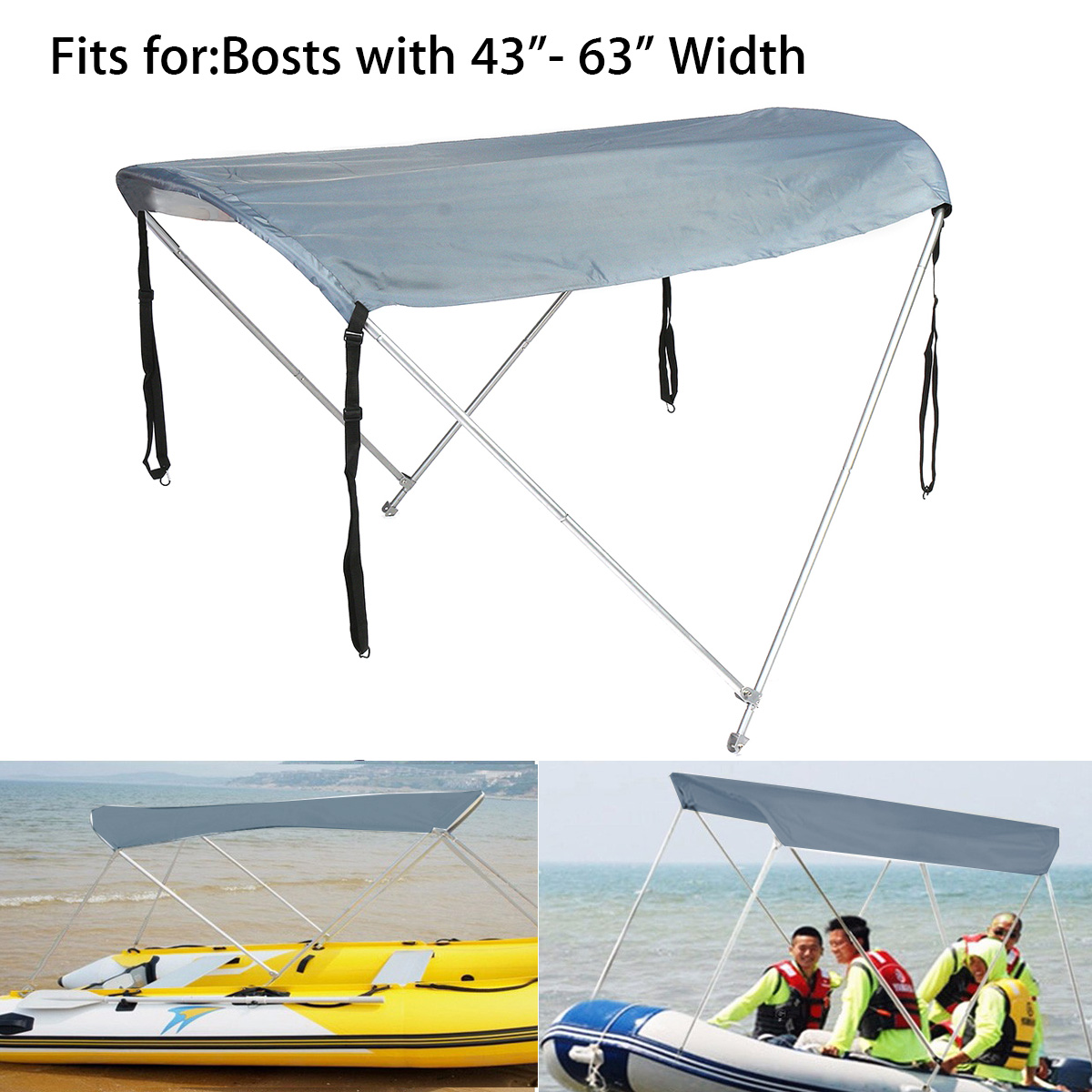 Inflatables Boat Sun Shelter Sailboat Awning Top Rowing Boats Cover Tent Sun Shade Rain Canopy Surfing