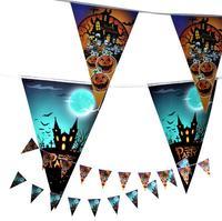 ハロウィンお化け屋敷クリスマスフラグバナー三角形誕生日パーティーフラグの装飾お祝い用品クリスマスパンプキンゴースト飾