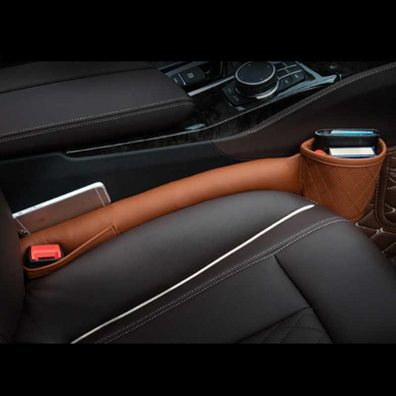 Lederen Autostoel Gap Filler Zakken Multifunction Auto Zetels Lek Stop Pad Zachte Padding Telefoon Kaarten Houder Opslag Organisatoren