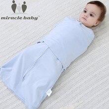 66 सेमी 2016 नई गर्म शीतल कपास गौज नवजात शिशु स्लीपिंग बैग कोकून स्लीपस्क्स लिफाफा शिशु बेबी एंटी-स्टार्टल लपेटा कपड़ा